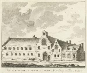 Leiden, St Catherine's Hospital (engraving by Cornelis Brouwer after an example of 1567)