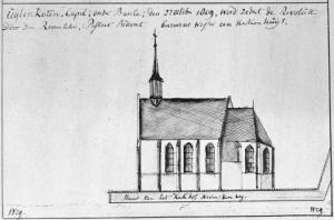Ulicoten, St Bernard's Chapel (drawing of 1809)