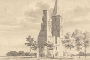 Ruins of St Adalbert's Abbey Church (drawing of C. Pronk, ca.1725)