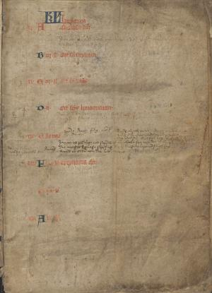 Necrology of St Peter's Church in Berlicum  (f.1r)