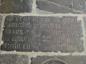 Floor slab of Jan die Gaerd[..]and his wife Alit
