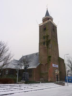 Rijnsburg, Reformed church with 12th-century tower of the former abbey church