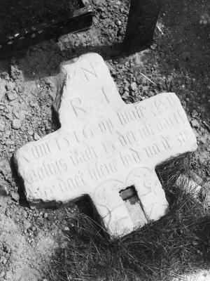 Memorial cross of Derick Vaeck