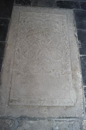 Floor slab of Johan van Brienen and Diederika van Rossum