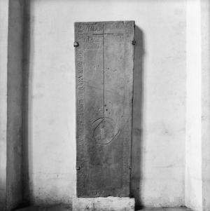 Sarcophagus lid of unknown person(s); floor slab of Ide Mannes [Nankes?] and another person