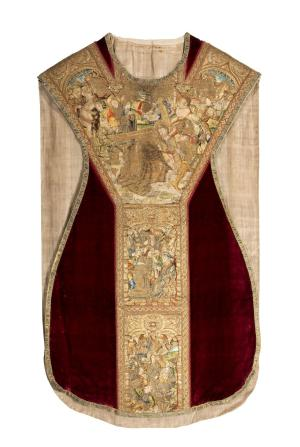 Chasuble commemorating (a member of) the Grauwert family - front
