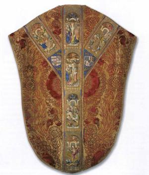 Chasuble commemorating David of Burgundy - back