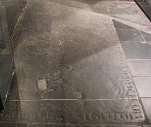 Floor slab of an unknown member of the clergy
