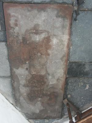 Sarcophagus lid of unknown person(s); floor slab of unknown person(s)