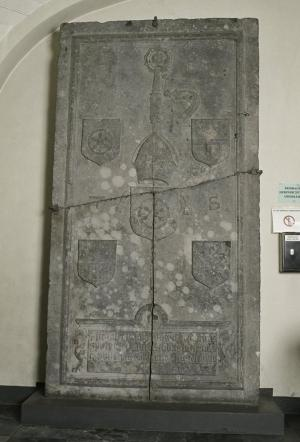 Floor slab of Theodoricus Spierinck van Well (former location)