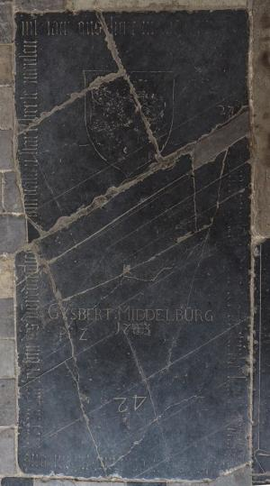 Floor slab of Berte Mensen and an unknown person