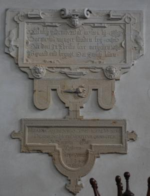 Wall memorial of Cornelis van Meckeren