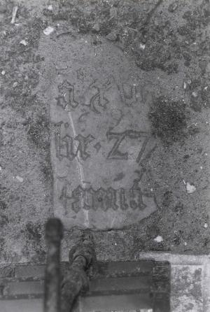 Floor slab of an unknown person (fragment(s))