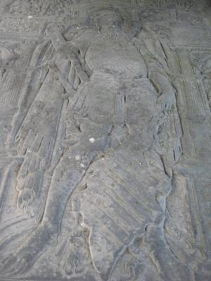 Floor slab of Wytze van Cammingha and family; effigy in the centre