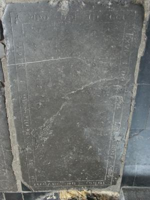Floor slab of Johannes de [...]