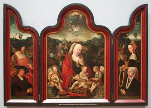 Virgin and Child and Music-Making Angels with devotional portraits of Pompejus Occo and Gerbrich Claes Jacob Maertgensdr.