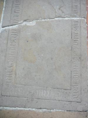 Floor slab of Theodricus Hardenberch; lower half