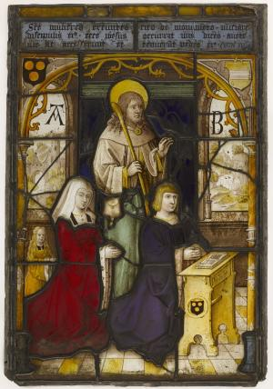 St James the Less presenting two devotional portraits