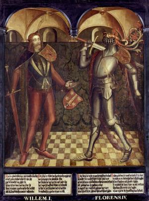 Panel 10: Willem I and Floris IV