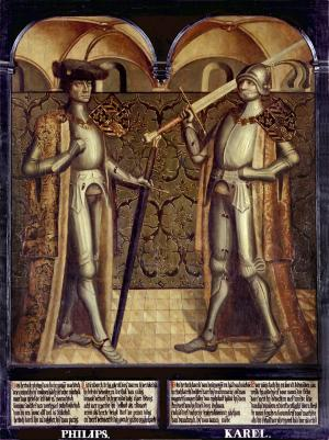 Panel 17:  Philip the Good (Philips de Goede) and Charles the Bold (Karel de Stoute)