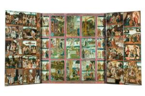 Pentaptych with scenes from the Passion of Christ and the Life of St Theodosia (opened state)