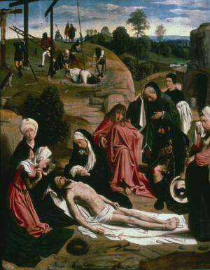 Lamentation over the Dead Christ (interior right wing)